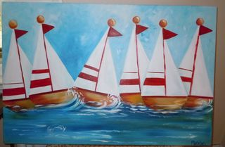 sailboat nursery playroom art
